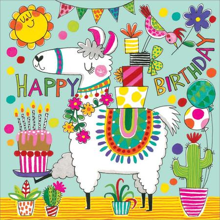 llama jigsaw puzzle, birthday  card