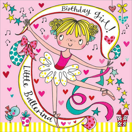ballerina girl jigsaw puzzle, birthday card