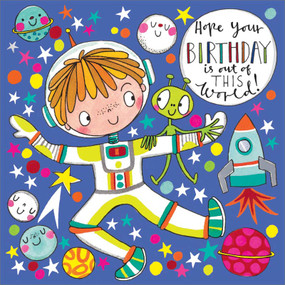 out of this world jigsaw puzzle | birthday  card