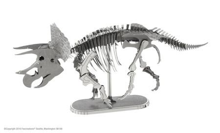 triceratops metal earth model kit