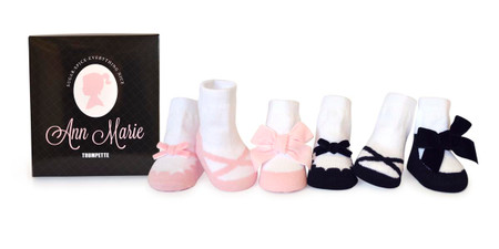 ann marie assorted pastel girl's baby socks