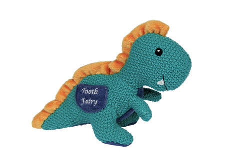 rex the dinosaur tooth fairy, with pocket for tooth