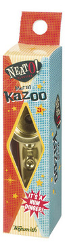 """4¾"""" metal kazoos feature a high quality """"childproof"""" cap and resonator."""