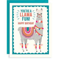you're a llama fun happy birthday