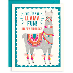 you're a llama fun happy birthday