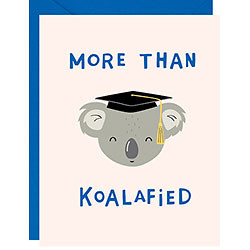 more than koalified, graduation card
