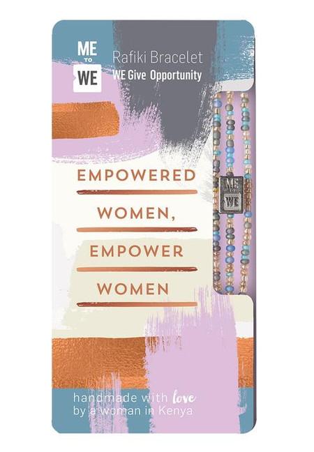 opportunity rafiki bracelet - empowered women, pastel beads