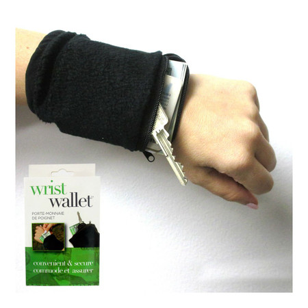 poly-fleece wrist wallet