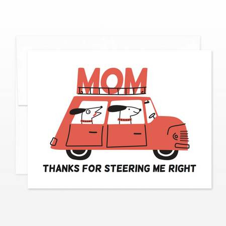 mom driver mother's day card