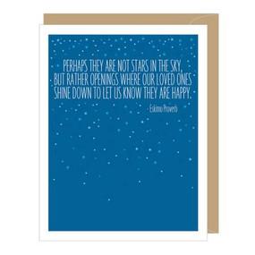eskimo stars greeted sympathy  card