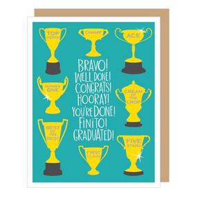 trophy graduation card
