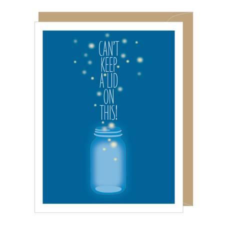 fireflies congratulations card, graduation card