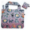 cat house fabric foldable bag, 19″ (h) x 24″ (w)