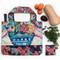 flower blast fabric foldable bag, 19″ (h) x 24″ (w)
