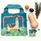 llama fabric foldable bag, reusable, durable fabric with strong stitching