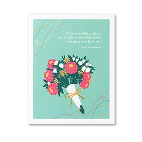 life gives us a fairy tail wedding card
