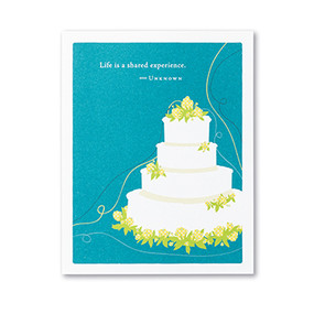 life is a shared experience wedding card