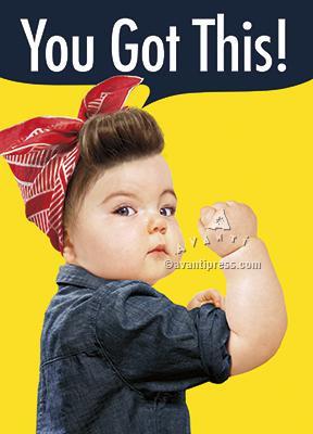 baby girl bicep encouragement card