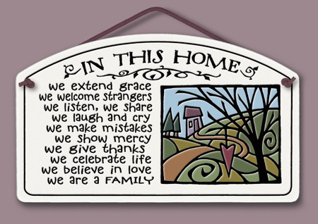 in this home extend grace, ceramic wall sign