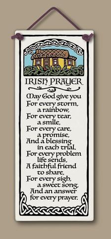 irish prayer sign