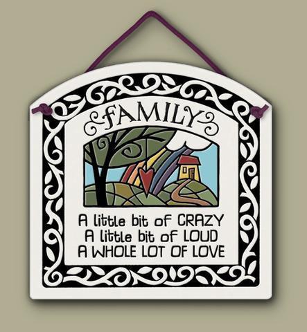family a little bit crazy sign