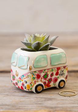 van happy faux critter succulent, Ceramic, PVC