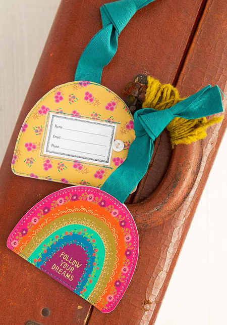 follow your dreams luggage tag