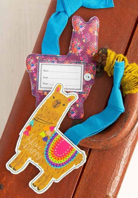 llive happy luggage tag