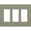 Lutron SC-3 Satin Colors Wallplate - 3-Gang