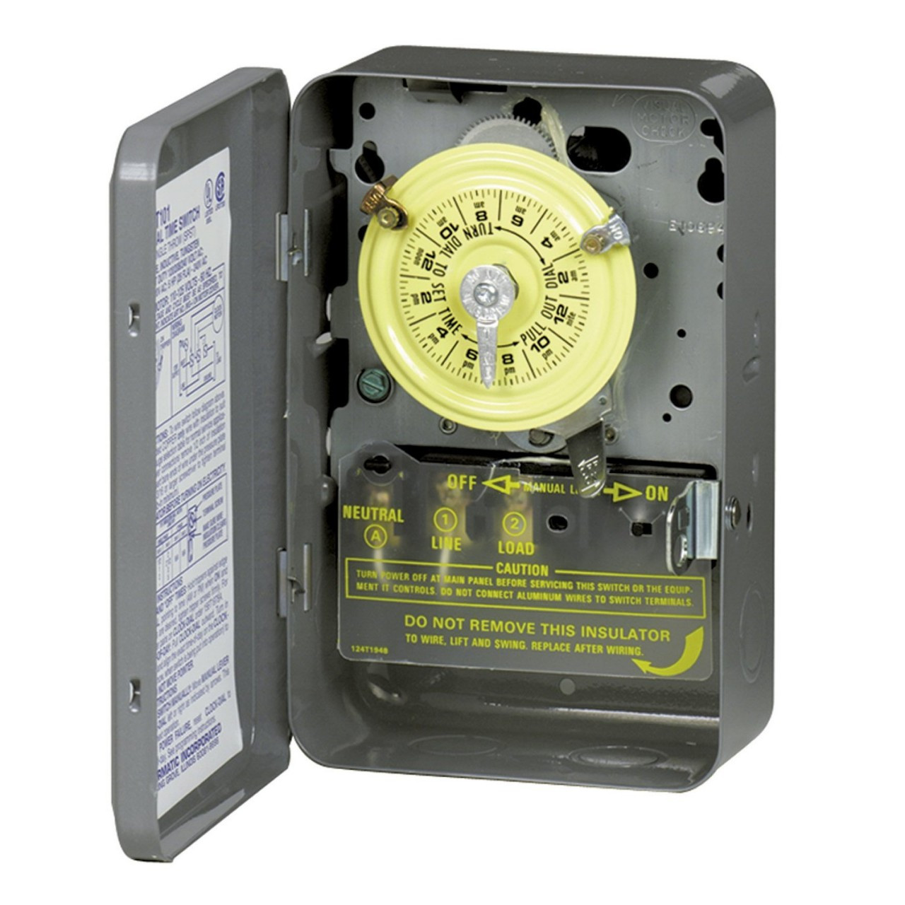 Intermatic T104R 208-277V DPST 24-Hr Mechanical Time Switch With ...