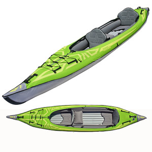 Updated AdvancedFrame Convertible Kayak in Hi-Vis Green