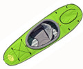 Single deck for Hi-Vis Green Convertible Kayak (seat not included)