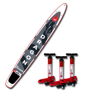 Red Paddle Dragon 22'0 Inflatable SUP for multiple paddlers.
