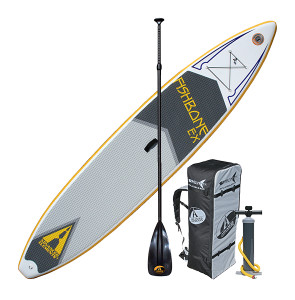 "Advanced Elements Fishbone 12'6"" Inflatable SUP - with bonus paddle"
