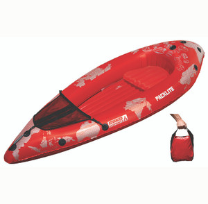 The ultralight 4lb Advanced Elements PackLite kayak.