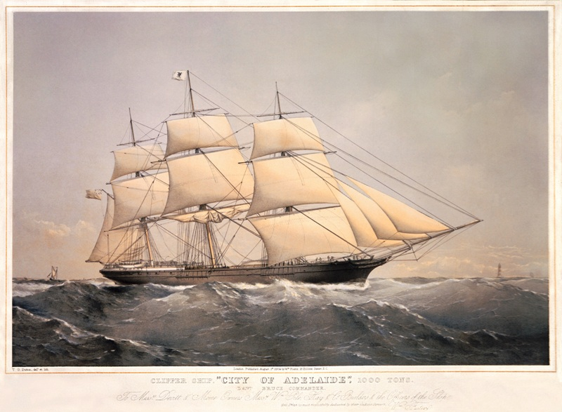 City of Adelaide Clipper, Maiden Voyage 1864