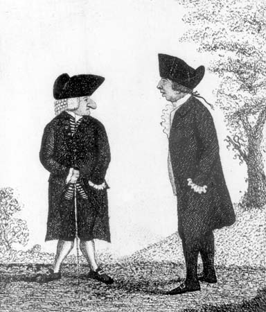 Andrew Bell, William Smellie a caricature by John Kay