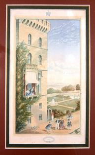 """Windsor Castle. The Royal Family"" George Baxter 1850"