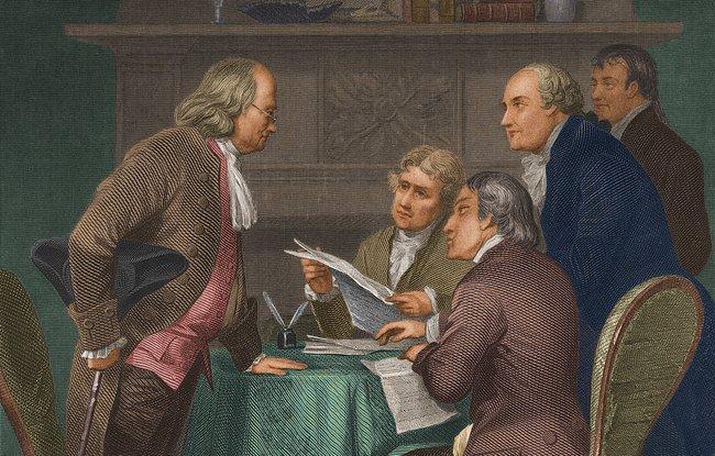 Franklin, Jefferson, Adams, Sherman