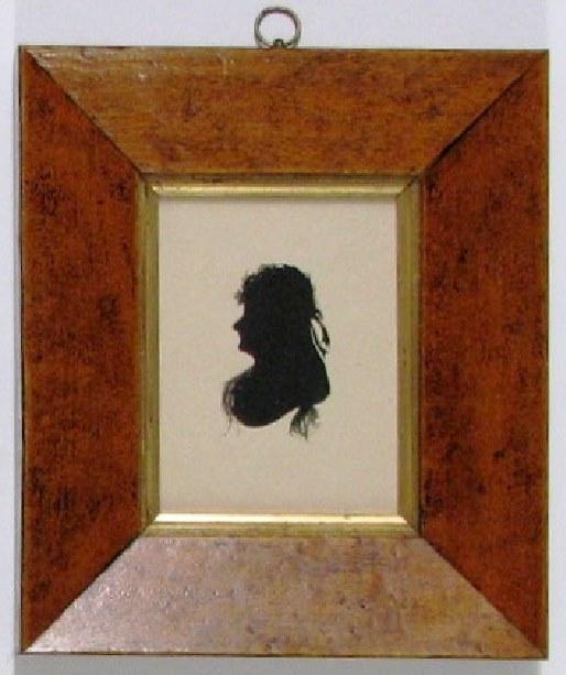 Regency Silhouette, Lady Sarah Lennox,Maple birdseye  Frame