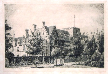 St. Peter's College, Adelaide. Etched F.W.G. Mathwin, 1935