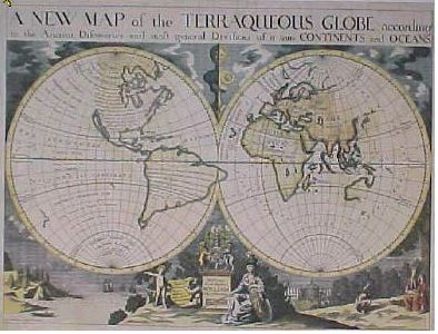 Terraqueous Mar of the World... Michael Burghers, Oxford, 1700