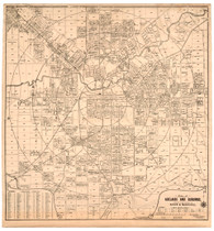 Street Map of ADELAIDE CBD CIRCA 1912 Adelaide and Suburbs Credited to Date expressly for Sands & McDougall (by) W.G.Fuller, Architect & Surveyor, Semaphore.