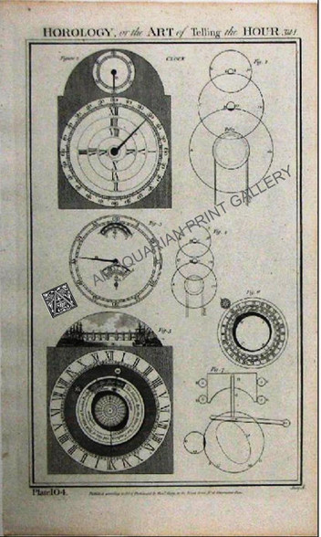 Technology Horology, or the Art of Tellng the Hour Time Clock 1788