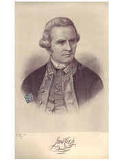 "Portrait Explorer British ""Captain James Cook"" Antique steel engraving by H.B Hall & Sons, Picturesque Atlas 1886"