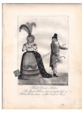 "Caricature, Cartoon, John Kay, Aquatint etching, Edinburgh, 1792 ""That's Your Sort!!! Mr. & Mrs. Lee Lewis in the Road to Ruin"" from the play by Thomas Holcroft. Antique Print"