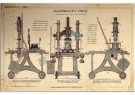 "Hobby ""Glassmaker's Press"" Antique Chromolithograph"