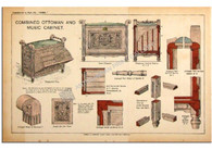 """Combined Ottoman and Music Cabinet"" c,1895"