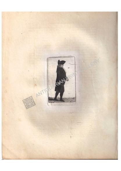"Caricature John Kay ""Dr. James Hamilton Senior"" antique etching  Antique Aquatint Etching designed and printed by John Kay for ""Kay's Edinburgh Portraits"" Edinburgh c.1797"
