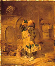 These prints after paintings by EDUARD VON GRUTZNER(1846-1925) painted in 1873, German artist. IDEAL FOR THE BELOVED CELLAR, BAR OR DINING AREA  Edition Limited to 200 each image
